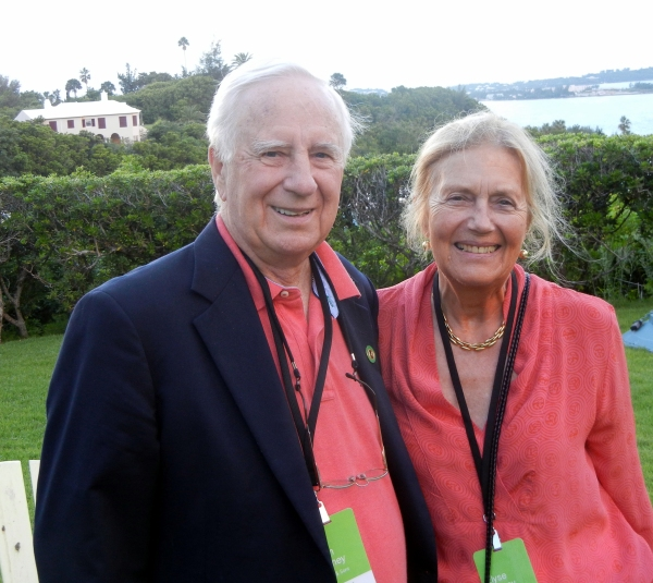 Mr. & Mrs. John Harney in Bermuda.