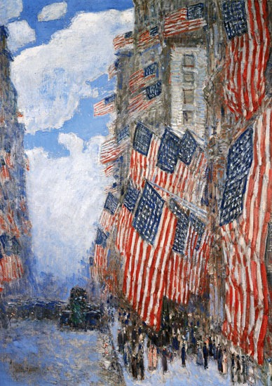 Fourth of July, Childe Hassam, 1916.